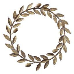 Creative Co-Op Wreaths Gold - Goldtone Metal Wreath | Zulily