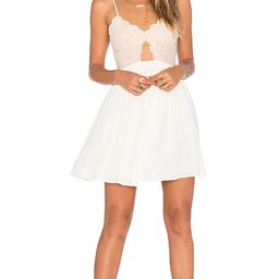 Tularosa Bryce Mini Dress in White. - size M (also in L,XL)   Revolve Clothing (Global)