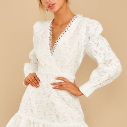 May This Be Love White Lace Dress   Red Dress