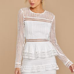 Endless Rose Out For Love White Lace Dress   Red Dress
