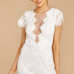 Some Nights White Lace Dress   Red Dress