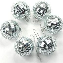 Cosmos 6 pcs 1.8 Inch Disco Ball Mirror Party Christmas Xmas Tree Ornament Decoration with Cosmos... | Amazon (US)