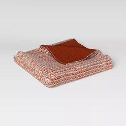"""60""""x50"""" Reversible Knit Throw Blanket - Threshold™   Target"""