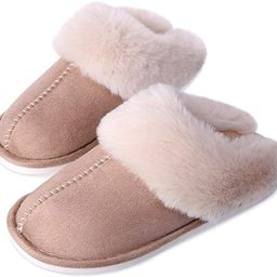 Women's Fuzzy Fur House Slippers, Fluffy Memory Foam Slippers, Slip-on Plush House Shoes for Coup...   Amazon (US)