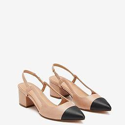 Toe Cap Slingback Block Heels | Express