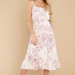 Simply Stunning Pink Floral Print Maxi Dress | Red Dress