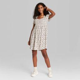Women's Puff Short Sleeve Smocked Dress - Wild Fable™   Target