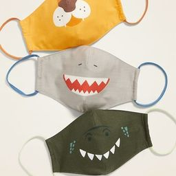 Variety 3-Pack of Triple-Layer Cloth Critter Face Masks (with Laundry Bag) for Kids | Old Navy (US)