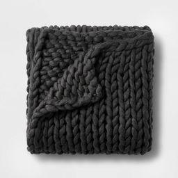 "50"" x 70"" Oversized Chunky Hand Knit Decorative Bed Throw - Casaluna™ | Target"