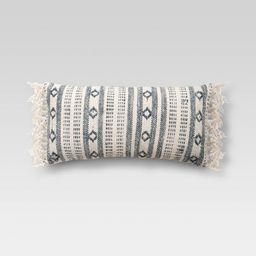 Oversized Lumbar Woven Pattern Pillow Blue/Cream - Threshold™ | Target