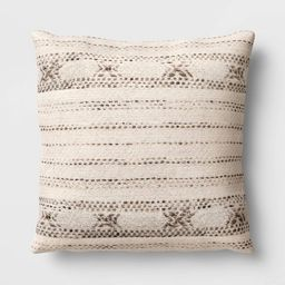 Oversized Square Wool Blend Throw Pillow - Threshold™ | Target