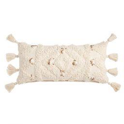 "Ivory Moroccan Blanket Lumbar Pillow var ensTmplname=""Ivory Moroccan Blanket Lumbar Pillow... | World Market"