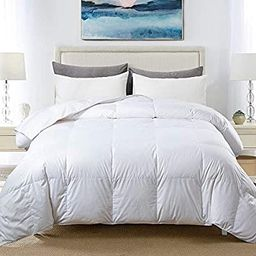 Cosybay 100% Cotton Quilted Down Comforter White Goose Duck Down and Feather Filling – All Seas... | Amazon (US)