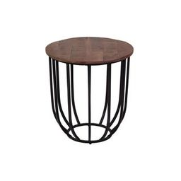 Alamosa Distressed Acacia Wood & Industrial Metal End Table | Overstock