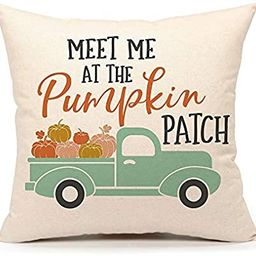 """4TH Emotion Fall Pumpkin Truck Throw Pillow Cover Autumn Quotes Cushion Case for Sofa Couch 18"""" x...   Amazon (US)"""