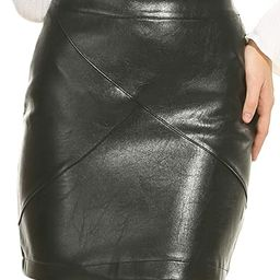 Zeagoo Women Classic High Waisted Faux Leather Bodycon Slim Mini Pencil Skirt | Amazon (US)