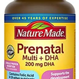 Nature Made Prenatal Multivitamin + 200 mg DHA Softgels with Folic Acid, Iodine and Zinc, 60 Coun... | Amazon (US)