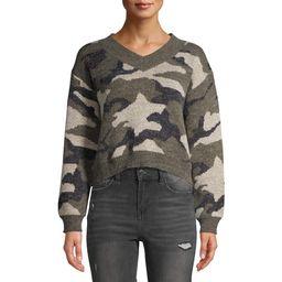 Dreamers by Debut Women's Camo Print V-Neck Sweater | Walmart (US)