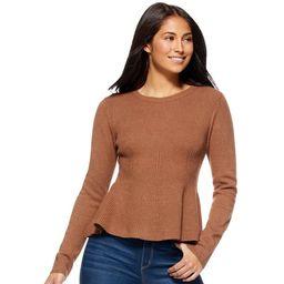 Sofia Vergara - Sofia Jeans by Sofia Vergara Women's Crewneck Peplum Sweater - Walmart.com | Walmart (US)