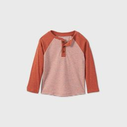 Toddler Boys' Confetti Foxtail Striped T-Shirt - Cat & Jack™ Orange | Target