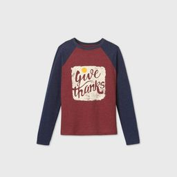 Boys' Long Sleeve Thanksgiving Graphic T-Shirt - Cat & Jack™ Red | Target