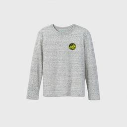 Boys' Long Sleeve 'Mountain Patch' T-Shirt - Cat & Jack™ Gray | Target