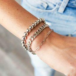 Simply Me Chain and Ball Bracelet- 2 colors | Apricot Lane Boutique