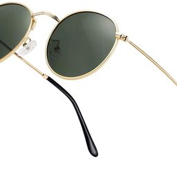 Small Round Polarized Sunglasses Retro Men Women Mirrored Lens Metal Frame Circle Sun Glasses Sha... | Amazon (US)