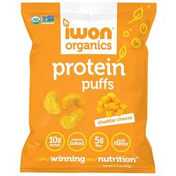IWON Organics Cheddar Cheese Flavor Protein Puff, High Protein and Organic Healthy Snacks, 16 Bag... | Amazon (US)