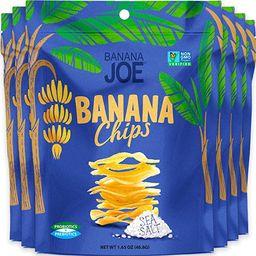 Banana Chips Sea Salt Healthy Chips - 1 Billion Probiotics healthy snacks for adults and kids, Gl... | Amazon (US)