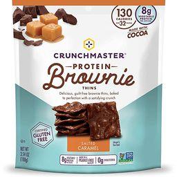 Crunchmaster Protein Brownie Thins Salted Caramel, 3.54 Oz | Amazon (US)
