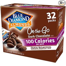 Blue Diamond Almonds, Oven Roasted Cocoa Dusted Almonds, 100 Calorie Packs, 32 Count | Amazon (US)