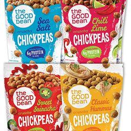 The Good Bean Crunchy Chickpeas Snacks, Variety Pack, 6 Ounce, 6 Count | Amazon (US)
