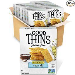 Good Thins Sea Salt Corn & Rice Snacks Gluten Free Crackers, 12 - 3.5 oz Boxes | Amazon (US)