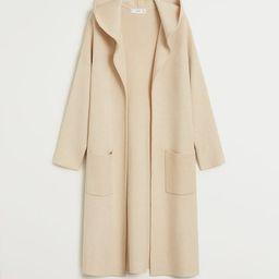 Hooded cardigan -  Women | Mango USA | MANGO (US)