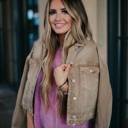 Go With It Cropped Tan Denim Jacket | Apricot Lane Boutique