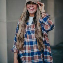 Goodbye Amber Mocha Multi Oversized Top | Apricot Lane Boutique