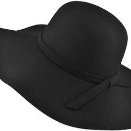 EINSKEY Womens Floppy Hat, Wool Felt Wide Brim Sun Hat Fedora Cloche Bowler Cap | Amazon (US)