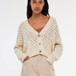 Pull&Bear knitted cardigan in ecru | ASOS (Global)