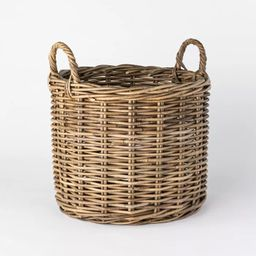 Decorative Round Rattan Basket Gray - Threshold™ designed with Studio McGee | Target