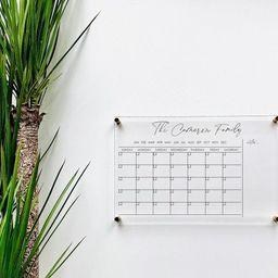 Personlized Acrylic Calendar For Wall || dry erase board lucite clear acrylic calendar minimalist... | Etsy (US)
