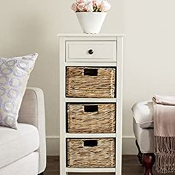 """Safavieh American Homes Collection Michaela Side Table, 15"""" x 11.8"""" x 35.8"""", Distressed White 