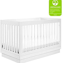 Babyletto Harlow Acrylic 3-in-1 Convertible Crib with Toddler Bed Conversion Kit in White with Wh... | Amazon (US)