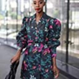 The Drop Women's Black Floral Print Lapel-Collar Button-Front Dress by @signedblake, XXL, Plus Size   Amazon (US)