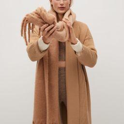 Knitted long coat   MANGO (US)