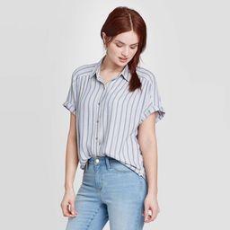 Women's Short Sleeve Button-Down Camp Shirt - Universal Thread™   Target