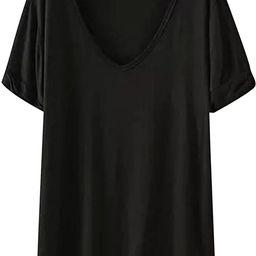 SheIn Women's Summer Short Sleeve Loose Casual Tee T-Shirt   Amazon (US)