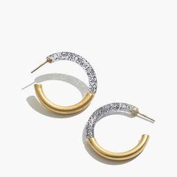 Small Half Acetate Hoop Earrings   Madewell