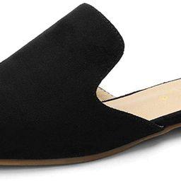 Allegra K Women's Pointed Toe Flat Slides Mules | Amazon (US)