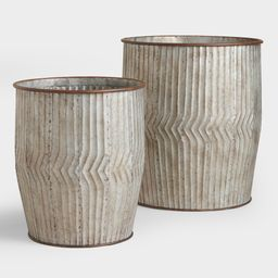 Distressed Metal Peyton Barrel - Small by World Market | World Market